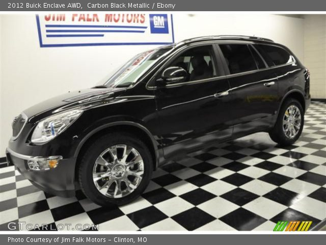 Carbon Black Metallic 2012 Buick Enclave Awd Ebony Interior Vehicle Archive