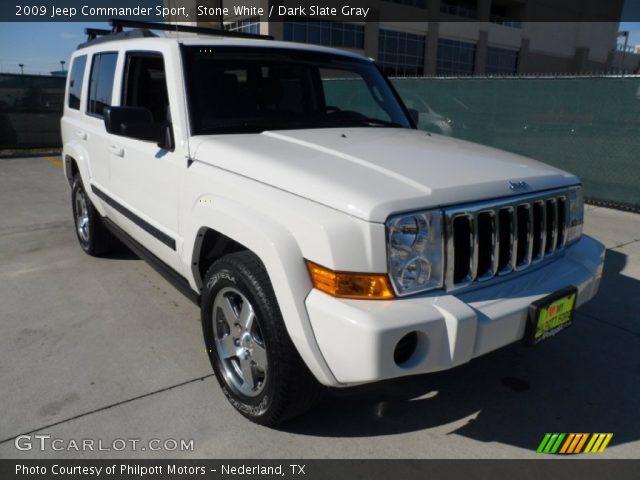 stone white 2009 jeep commander sport dark slate gray. Black Bedroom Furniture Sets. Home Design Ideas