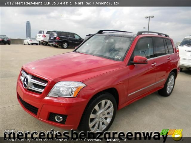 Mars Red 2012 Mercedes Benz Glk 350 4matic Almond