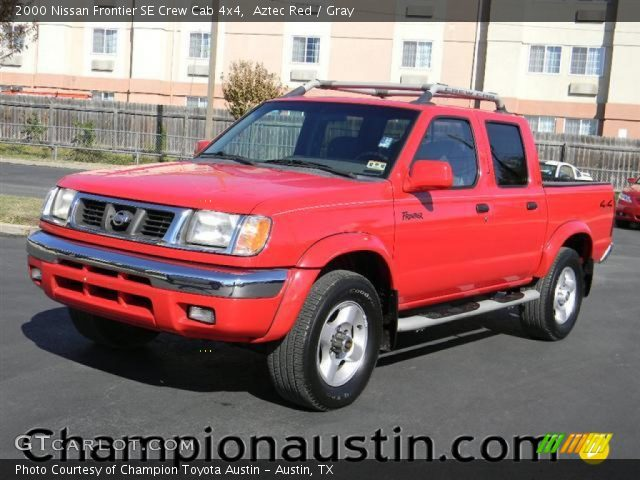 aztec red 2000 nissan frontier se crew cab 4x4 gray interior vehicle. Black Bedroom Furniture Sets. Home Design Ideas