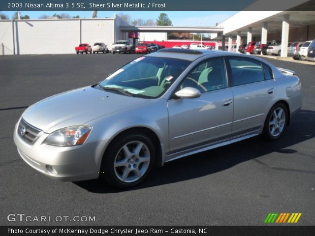 2003 Nissan Altima 35 SE In Sheer Silver Metallic Click To See Large