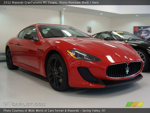Rosso Mondiale Red 2012 Maserati Granturismo Mc Coupe Nero Interior