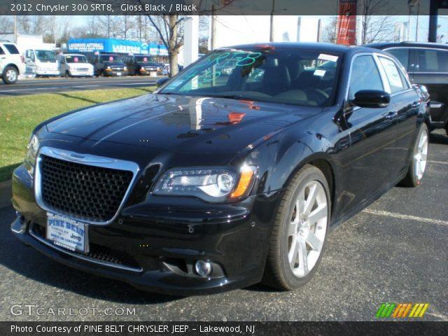 Gloss Black 2012 Chrysler 300 Srt8 Black Interior Vehicle Archive 57695484
