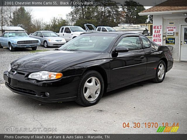 black 2001 chevrolet monte carlo ss ebony black interior vehicle archive. Black Bedroom Furniture Sets. Home Design Ideas