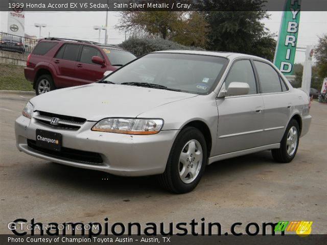 satin silver metallic 1999 honda accord ex v6 sedan gray interior vehicle. Black Bedroom Furniture Sets. Home Design Ideas