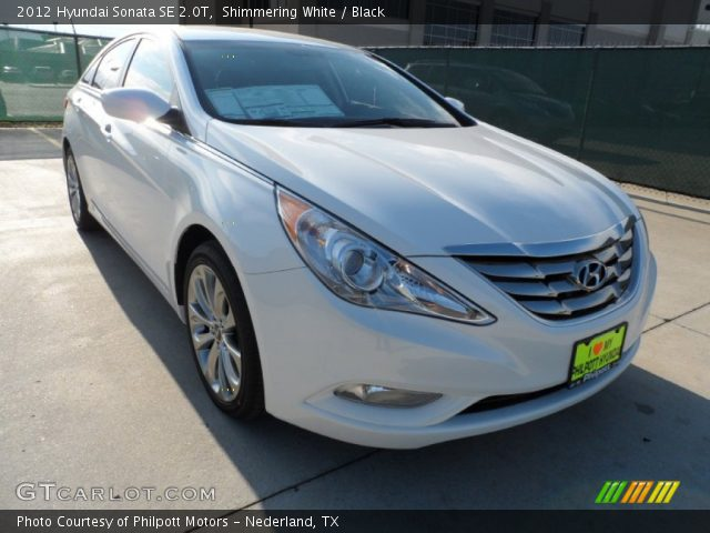 shimmering white 2012 hyundai sonata se 2 0t black interior vehicle archive. Black Bedroom Furniture Sets. Home Design Ideas