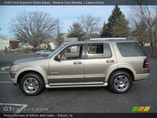 Mineral Grey Metallic 2006 Ford Explorer Eddie Bauer Camel Stone Interior