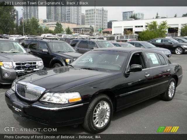 black 2011 lincoln town car signature l black interior vehicle archive. Black Bedroom Furniture Sets. Home Design Ideas