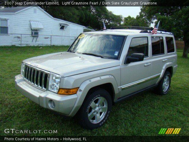 light graystone pearl 2007 jeep commander limited dark. Black Bedroom Furniture Sets. Home Design Ideas