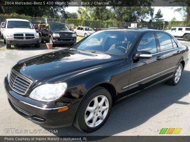 Black 2004 mercedes benz s 430 4matic sedan charcoal for Mercedes benz s 430
