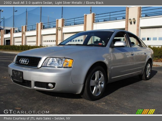 Light Silver Metallic 2002 Audi A6 3 0 Quattro Sedan Ebony Black Interior Gtcarlot Com