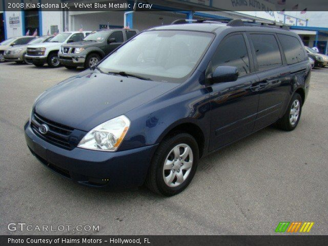 velvet blue metallic 2008 kia sedona lx gray interior vehicle archive 57877286. Black Bedroom Furniture Sets. Home Design Ideas