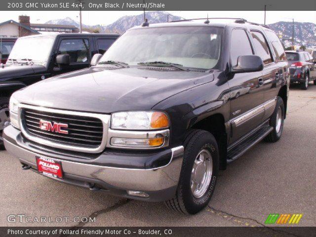 2003 GMC Yukon SLE 4x4 in Onyx Black