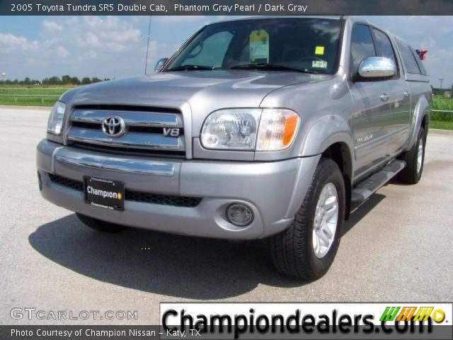 phantom gray pearl 2005 toyota tundra sr5 double cab dark gray interior. Black Bedroom Furniture Sets. Home Design Ideas