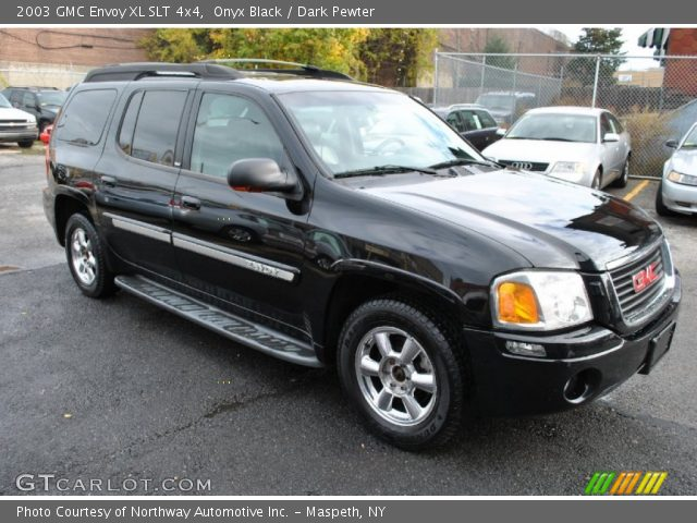 onyx black 2003 gmc envoy xl slt 4x4 dark pewter. Black Bedroom Furniture Sets. Home Design Ideas