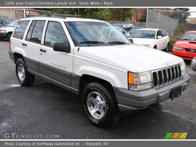 stone white 1998 jeep grand cherokee laredo 4x4 black interior vehicle. Black Bedroom Furniture Sets. Home Design Ideas