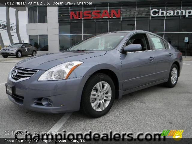 ocean gray 2012 nissan altima 2 5 s charcoal interior vehicle archive 57873351. Black Bedroom Furniture Sets. Home Design Ideas