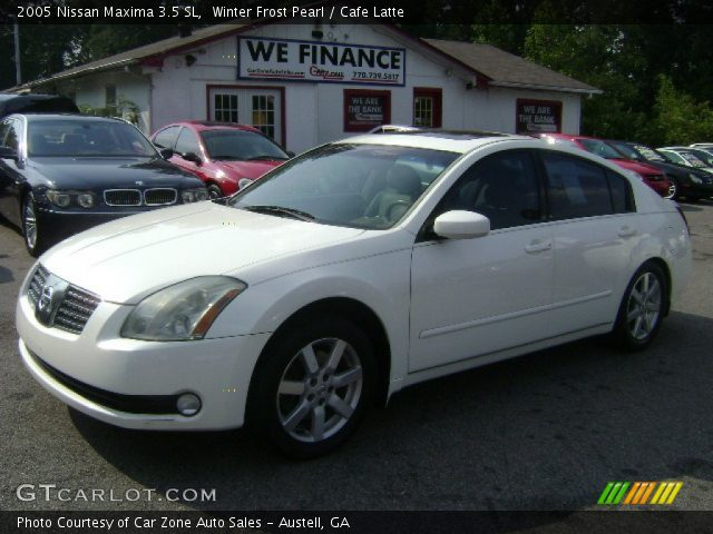 winter frost pearl 2005 nissan maxima 3 5 sl cafe. Black Bedroom Furniture Sets. Home Design Ideas