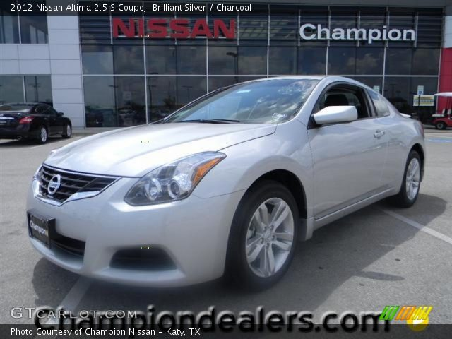 2012 Nissan Altima 2 5 S Coupe in Brilliant Silver  Click to see large    Nissan Altima Coupe 2010 Silver