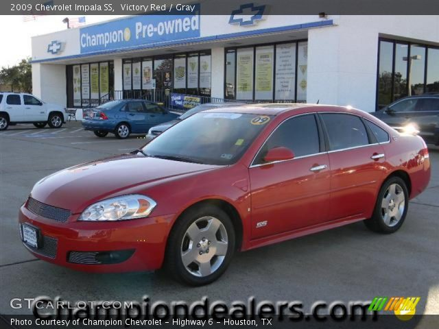 victory red 2009 chevrolet impala ss gray interior. Black Bedroom Furniture Sets. Home Design Ideas