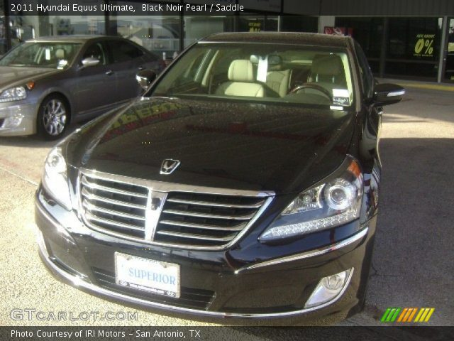 Black Noir Pearl 2011 Hyundai Equus Ultimate Saddle