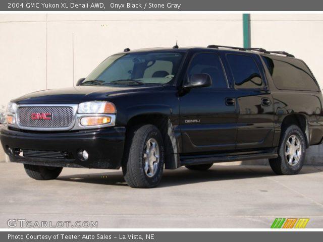 onyx black 2004 gmc yukon xl denali awd stone gray interior vehicle archive. Black Bedroom Furniture Sets. Home Design Ideas