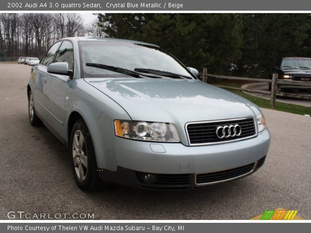 crystal blue metallic 2002 audi a4 3 0 quattro sedan. Black Bedroom Furniture Sets. Home Design Ideas