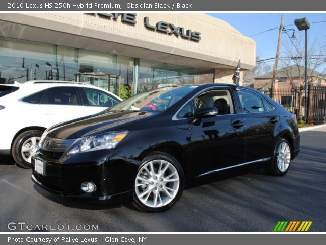obsidian black 2010 lexus hs 250h hybrid premium black interior vehicle. Black Bedroom Furniture Sets. Home Design Ideas