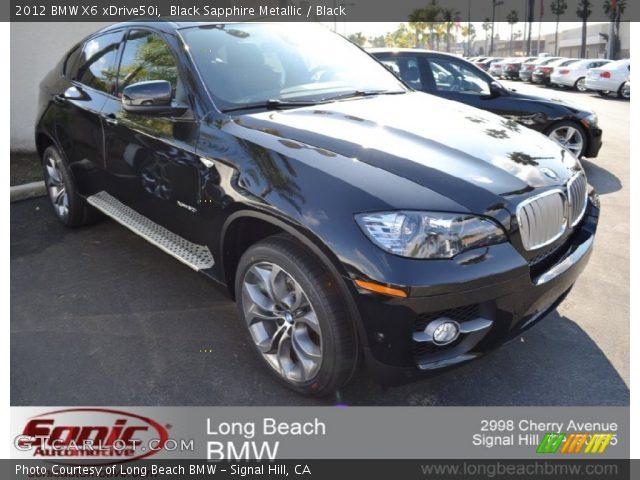 2012 BMW X6 xDrive50i in Black Sapphire Metallic