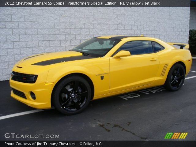 rally yellow 2012 chevrolet camaro ss coupe transformers special edition jet black interior. Black Bedroom Furniture Sets. Home Design Ideas