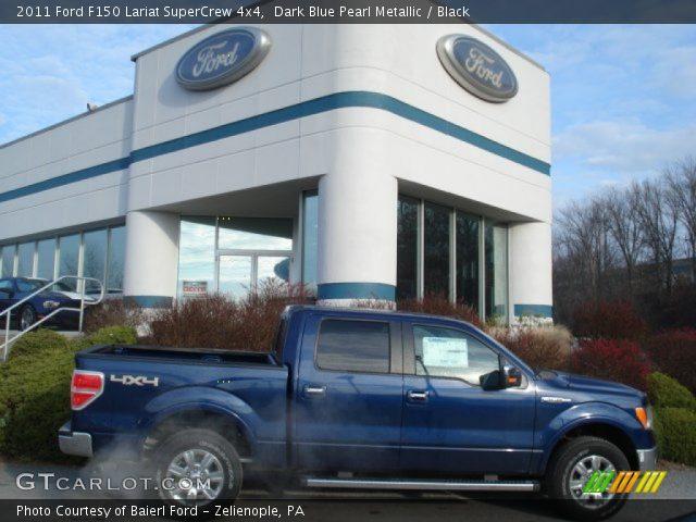 2011 Ford F150 Lariat SuperCrew 4x4 in Dark Blue Pearl Metallic