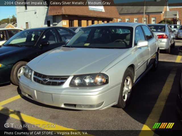 galaxy silver metallic 2004 chevrolet impala ls medium gray interior. Black Bedroom Furniture Sets. Home Design Ideas