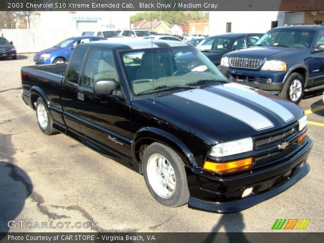 black onyx 2003 chevrolet s10 xtreme extended cab medium gray interior. Black Bedroom Furniture Sets. Home Design Ideas