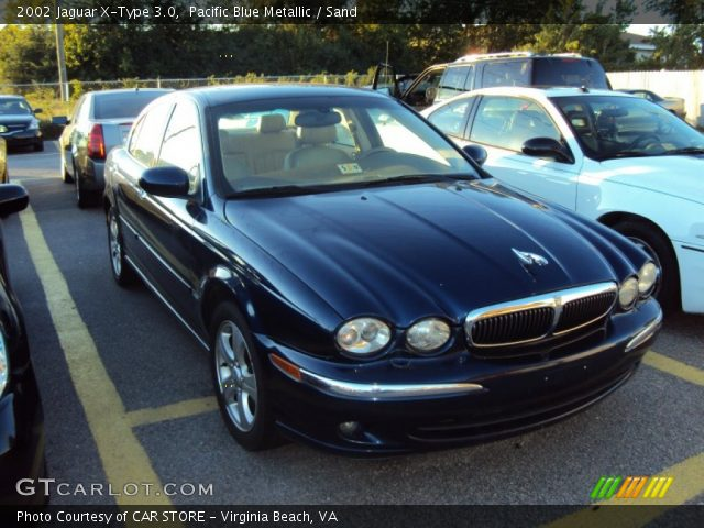 pacific blue metallic 2002 jaguar x type 3 0 sand interior vehicle archive. Black Bedroom Furniture Sets. Home Design Ideas