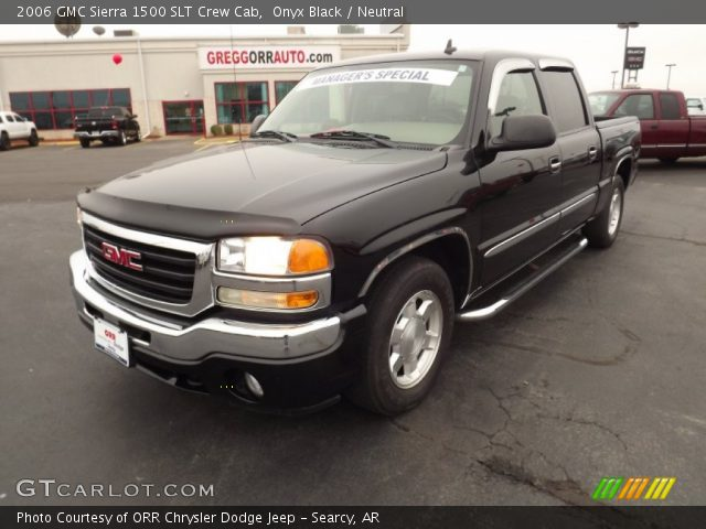 onyx black 2006 gmc sierra 1500 slt crew cab neutral interior vehicle. Black Bedroom Furniture Sets. Home Design Ideas