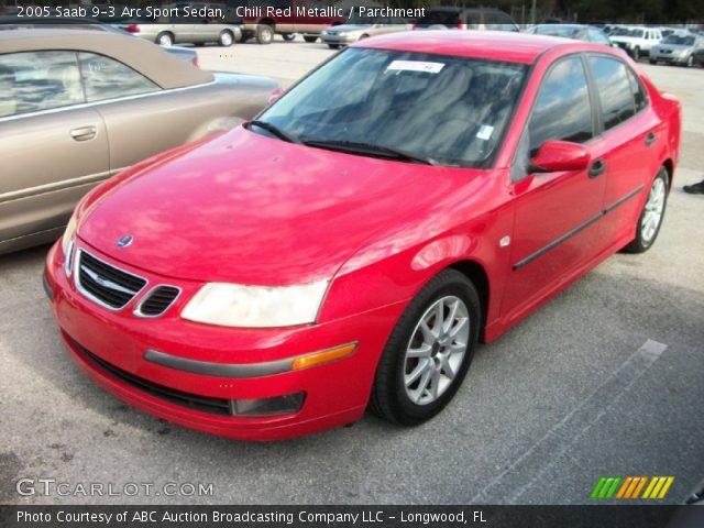chili red metallic 2005 saab 9 3 arc sport sedan parchment interior vehicle. Black Bedroom Furniture Sets. Home Design Ideas