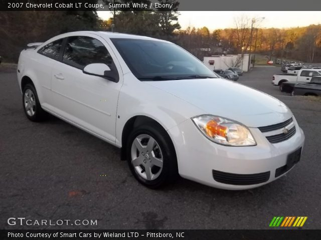 summit white 2007 chevrolet cobalt lt coupe ebony. Black Bedroom Furniture Sets. Home Design Ideas