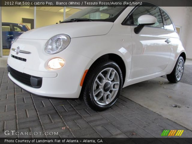2012 Fiat 500 c cabrio Pop in Bianco (White)