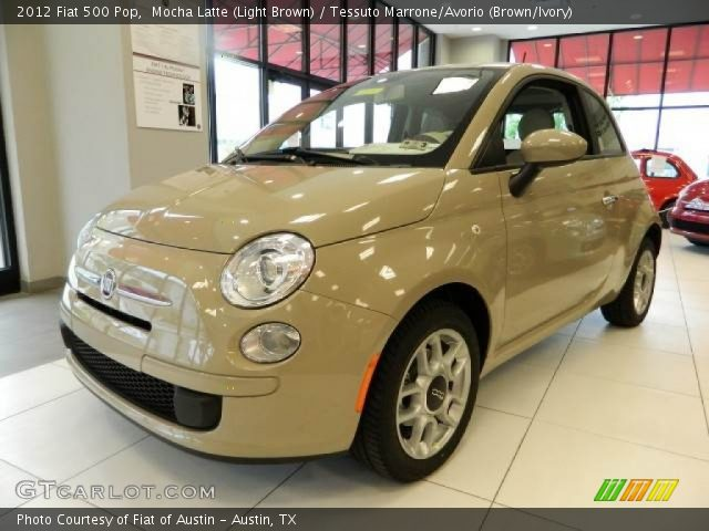 2012 Fiat 500 Pop in Mocha Latte (Light Brown)