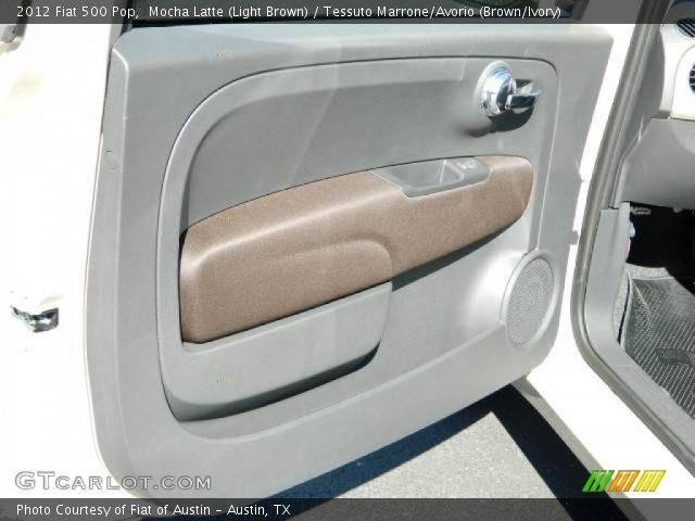 2012 Fiat 500 Pop in Mocha Latte (Light Brown)