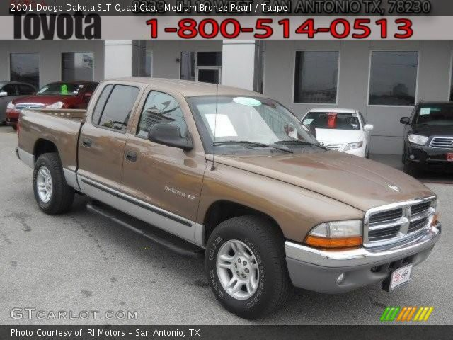 medium bronze pearl 2001 dodge dakota slt quad cab. Black Bedroom Furniture Sets. Home Design Ideas