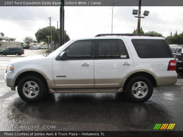 oxford white 2007 ford expedition eddie bauer camel interior vehicle. Black Bedroom Furniture Sets. Home Design Ideas