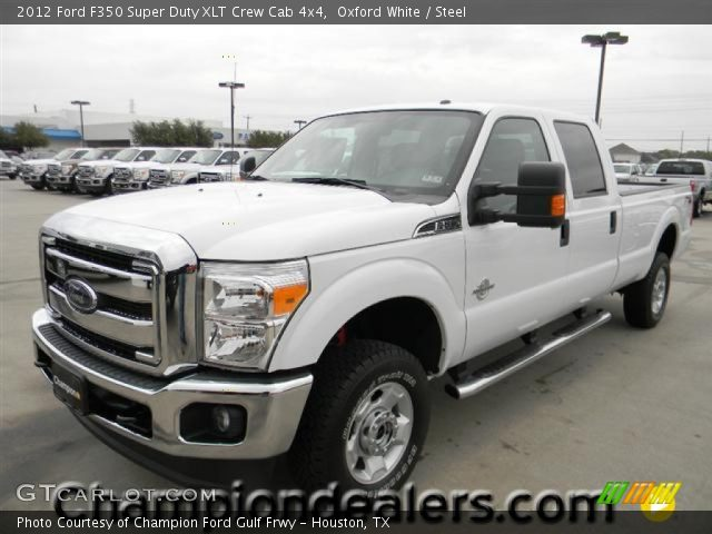 oxford white 2012 ford f350 super duty xlt crew cab 4x4 steel interior. Black Bedroom Furniture Sets. Home Design Ideas