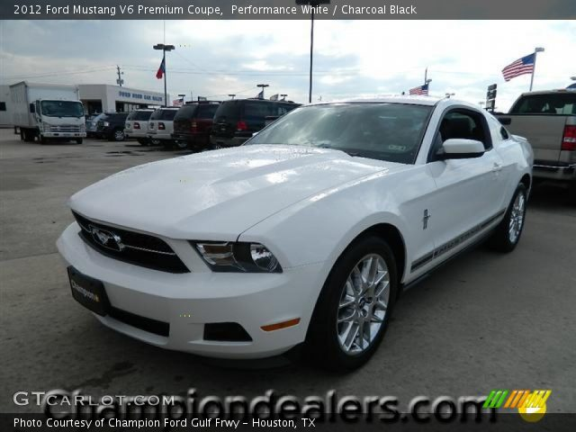 performance white 2012 ford mustang v6 premium coupe charcoal black interior. Black Bedroom Furniture Sets. Home Design Ideas