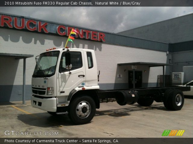 2010 Mitsubishi Fuso FM330 Regular Cab Chassis in Natural White