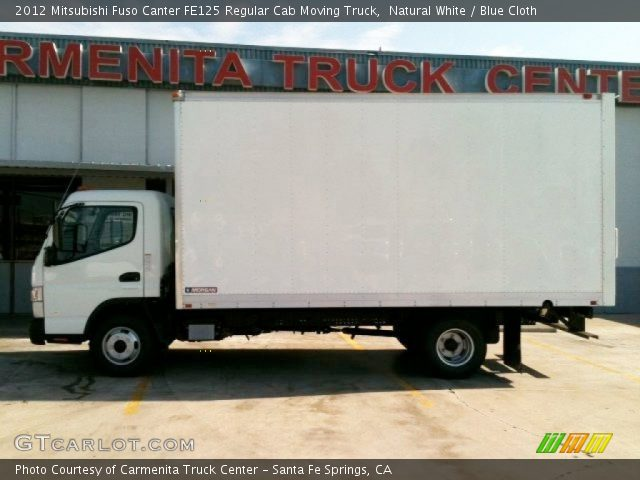 2012 Mitsubishi Fuso Canter FE125 Regular Cab Moving Truck in Natural White