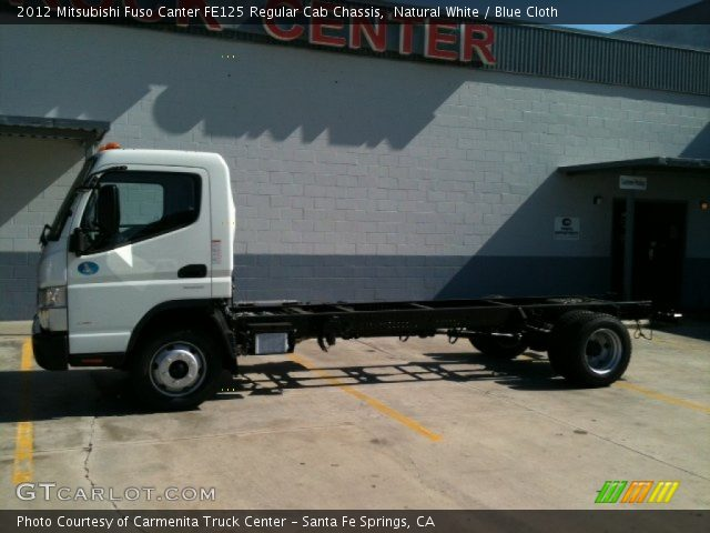 2012 Mitsubishi Fuso Canter FE125 Regular Cab Chassis in Natural White