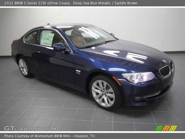 deep sea blue metallic 2012 bmw 3 series 328i xdrive coupe saddle brown interior gtcarlot. Black Bedroom Furniture Sets. Home Design Ideas