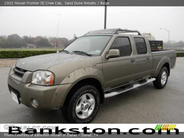 Sand Dune Metallic 2002 Nissan Frontier Se Crew Cab Beige Interior Vehicle