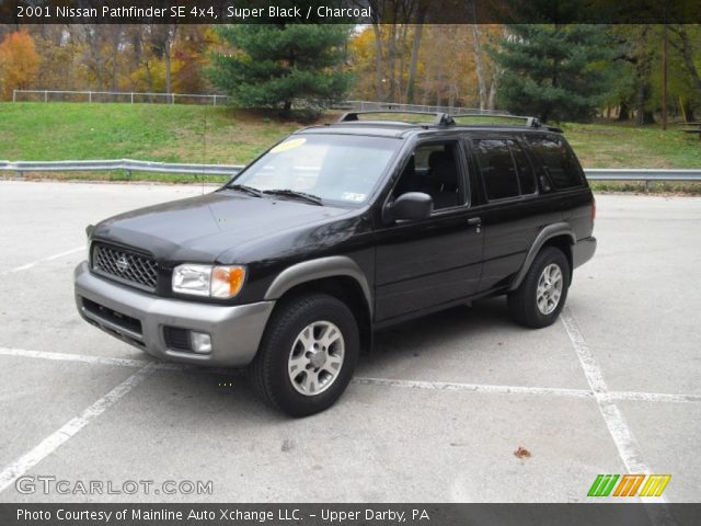 super black 2001 nissan pathfinder se 4x4 charcoal. Black Bedroom Furniture Sets. Home Design Ideas